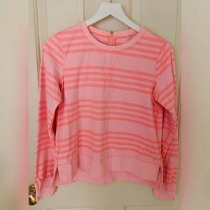 Lululemon Sz 10 Peachy Pink Stripe Long Sleeve